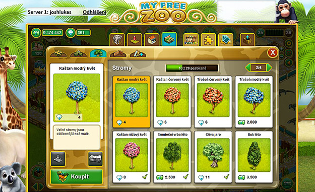 Free to play online hra My Free Zoo registrace zdarma