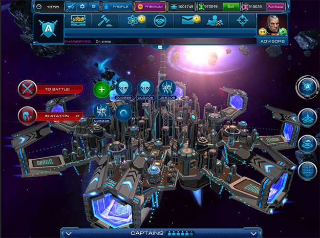 Prohlížečová (browserová) 3D online hra Astro Lords na registrace zdarma