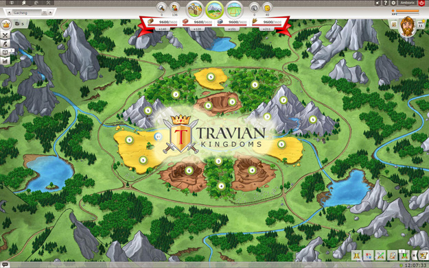 Travian Kingdoms prohlížečová free to play online hra