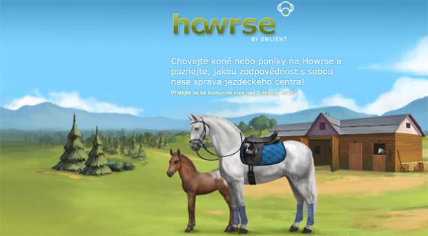 Hra Howrse: vychovej si svého koně a spravuj jezdecké centrum